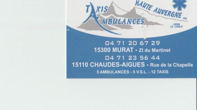 Taxis Ambulances Haute Auvergne